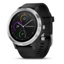 Garmin Vívoactive 3 Sport Watch Silver with Black Strap M/L
